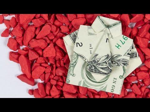 DOLLAR Origami SHIRT And TIE Folding Tutorial 👔