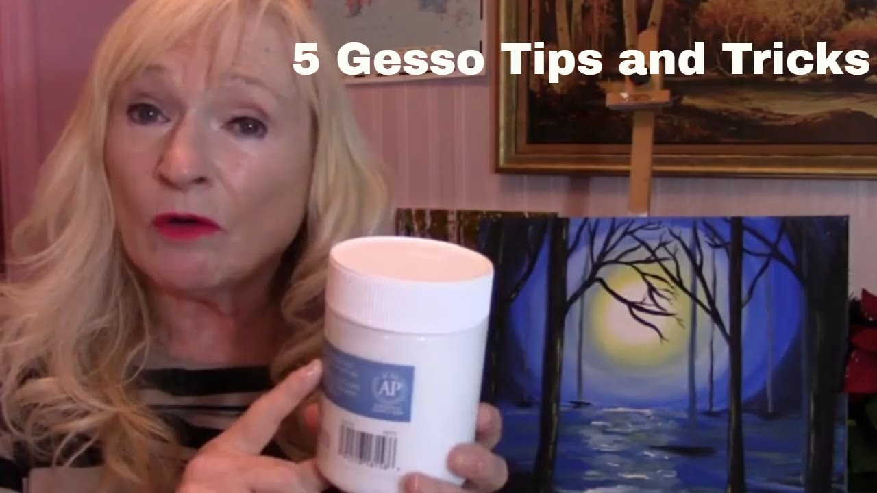 5 ways to apply GESSO to your Acrylic Painting Canvas