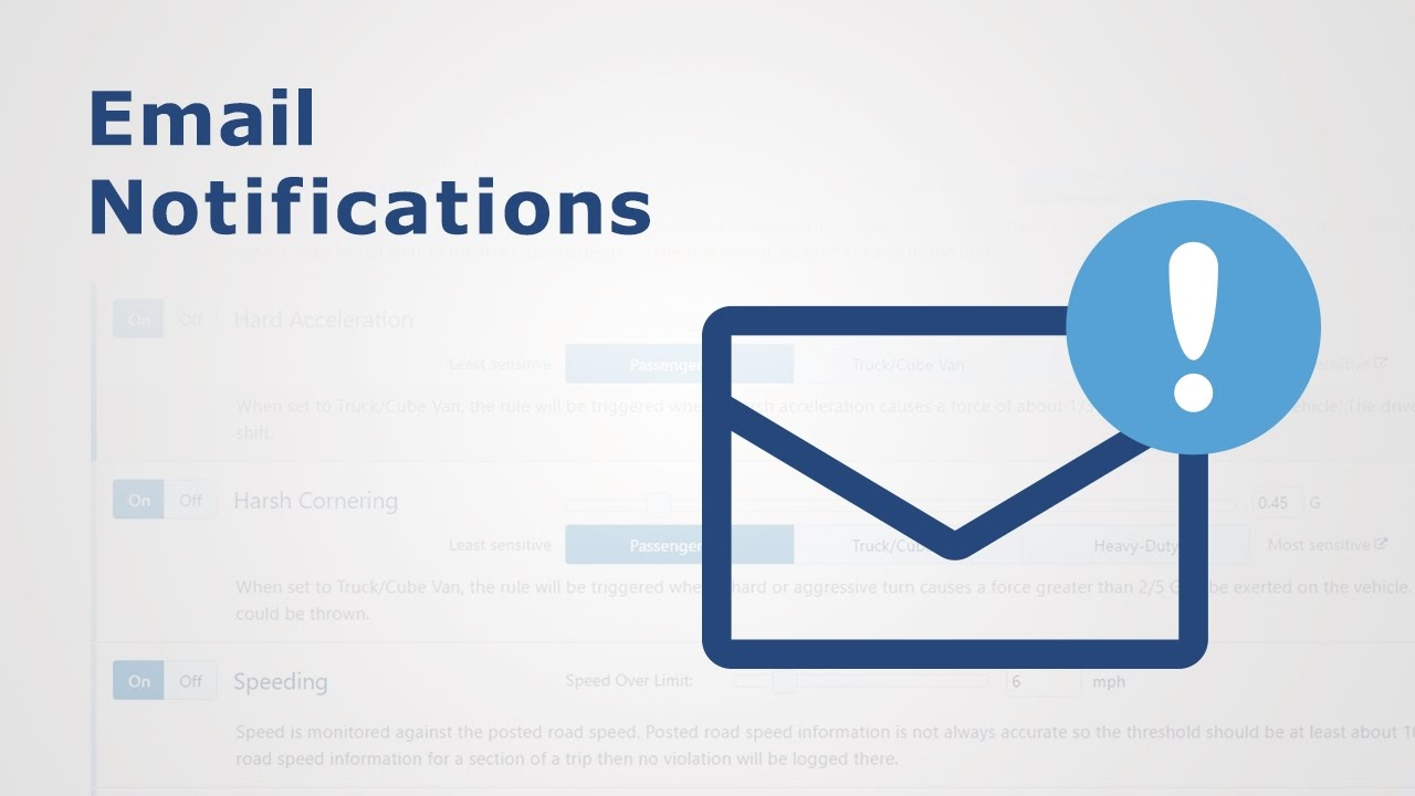 How to Setup Email Notification | Fleet Optimization