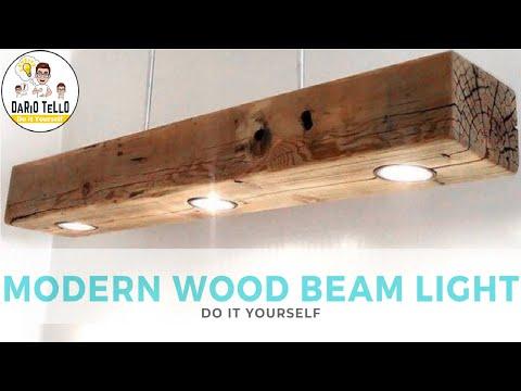 #3 wood lamp DIY -  Lampada / faretti Led fai da te legno
