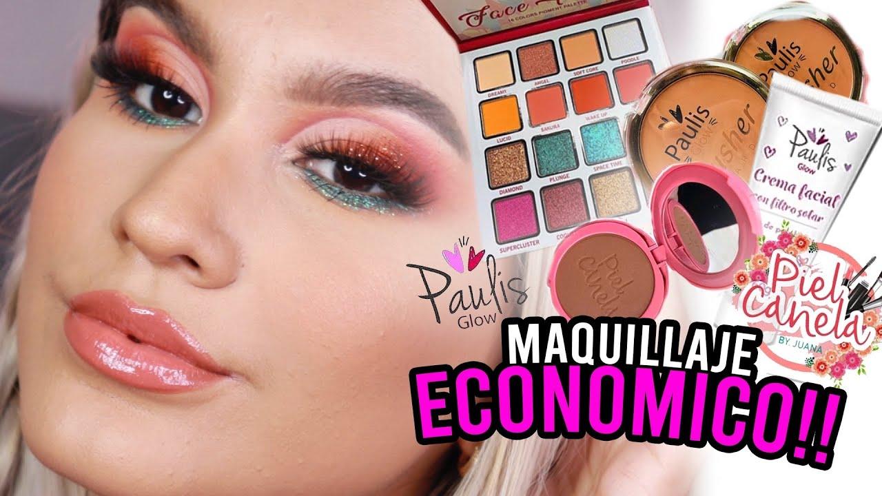 PROBANDO MARCAS COLOMBIANAS ECONOMICAS! (Paulis Glow, Piel Canela, Nube Rosa)- Manuela Giraldo
