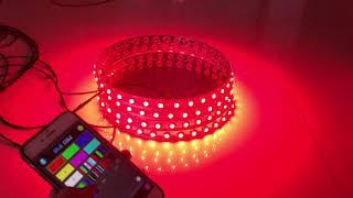 "【New Design】15.5"" RGB Color Change LED Wheel rim Lights Bluetooth control Kit"