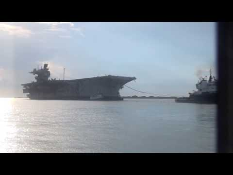 USS Saratoga Final Voyage to Brownsville TX