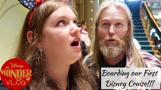 Boarding the Disney Wonder - Our First  Ever Disney Cruise