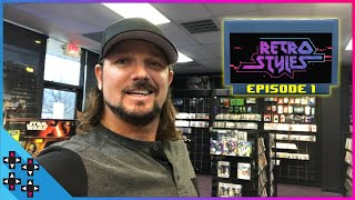 AJ STYLES IS THE ULTIMATE VIDEO GAME HUNTER! - Retro Styles #1