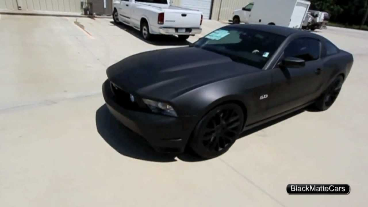 Matte Black Ford Mustang Hd Youtube