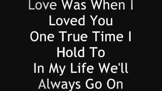 Celine Dion My Heart Will Go On Lyrics