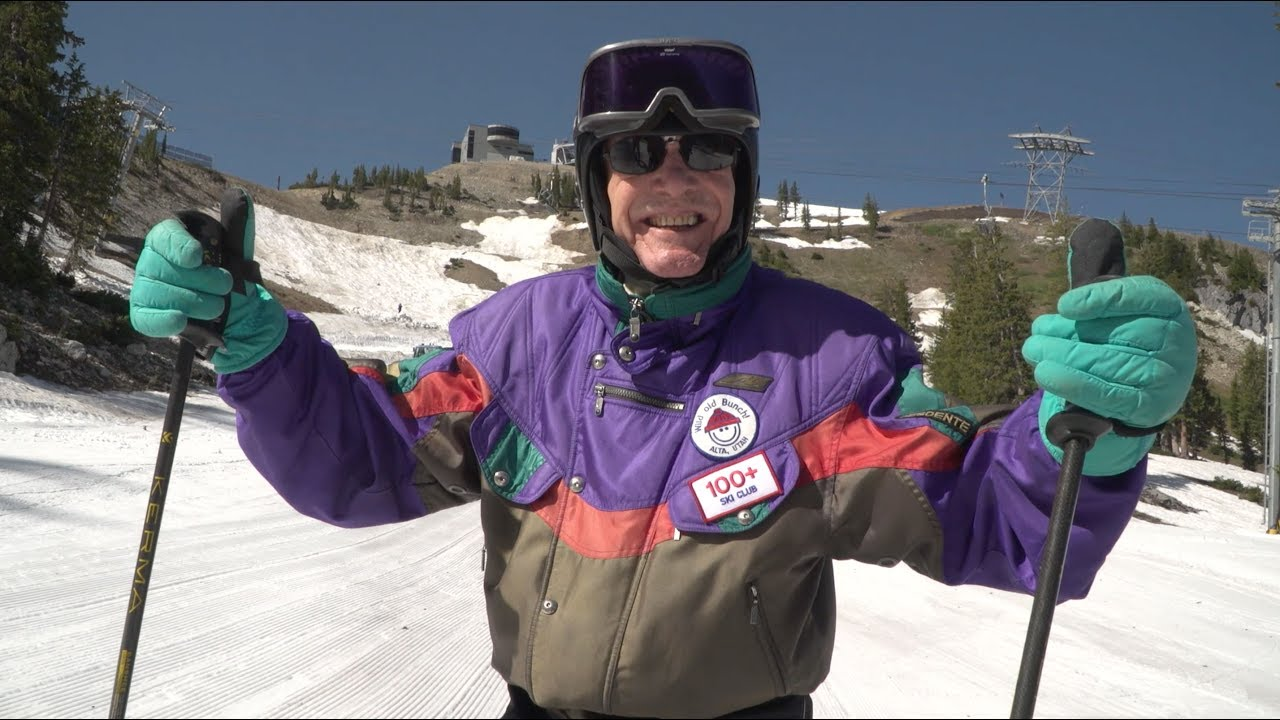 100 Year Old Skier Skis On His Birthday George Jedenoff
