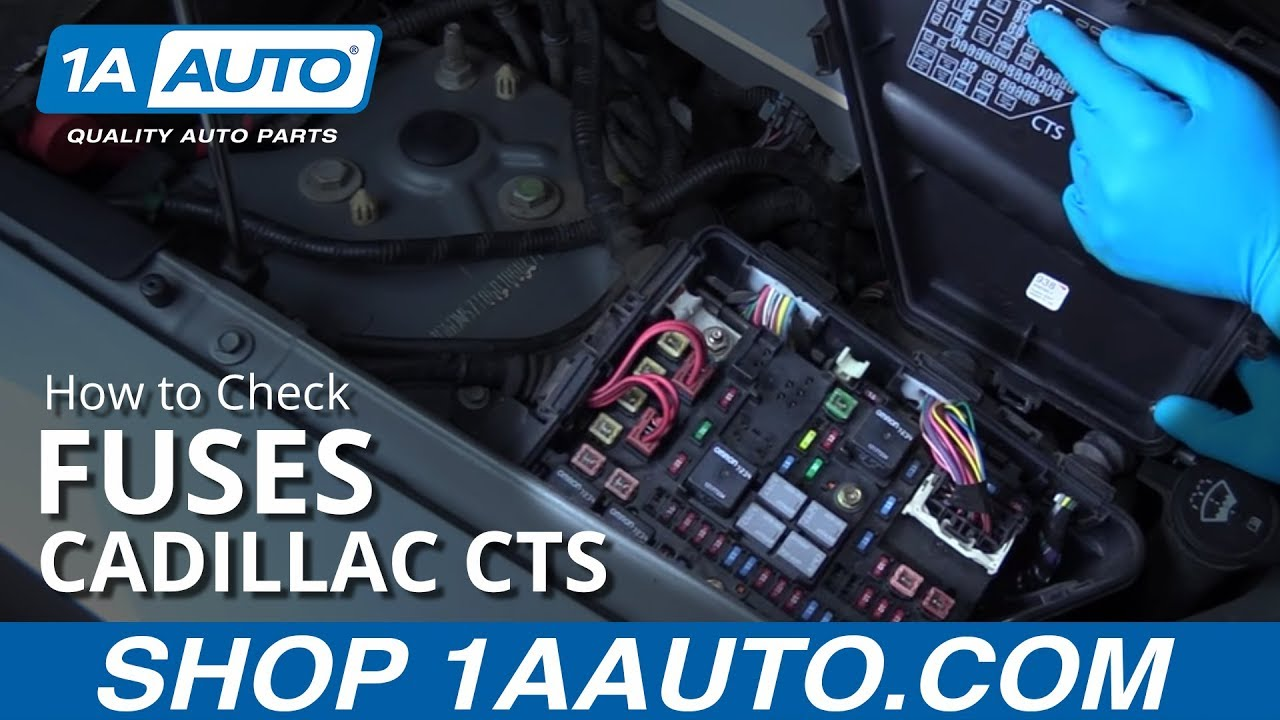 maxresdefault how to check your fuses 05 cadillac cts youtube 2009 cadillac cts fuse box location at bayanpartner.co