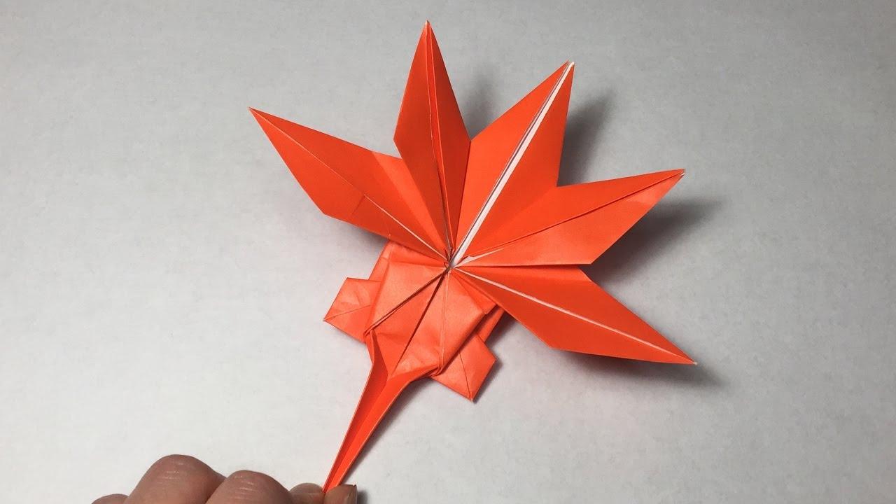 Origami Maple Leaf Tutolial / Canadian Maple Leaf - YouTube - photo#19