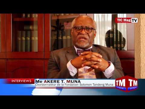 "Me Akere T. Muna : ""Le Cameroun en 2035 c'est ...."""