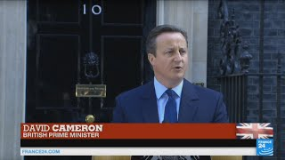 Brexit: UK prime minister David Cameron addresses British voters on leaving the EU