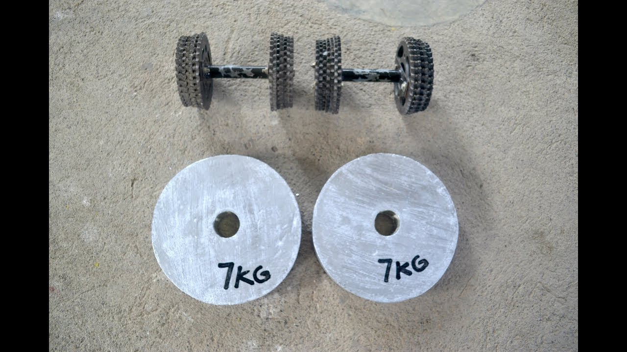 Make weights at home concrete