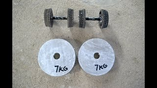 How to Make a Homemade  Weight Plate | Concrete Weight
