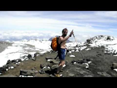 Iceman Wim Hof on Kilimanjaro Summit