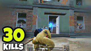 BEST RUSH GAMEPLAY!!! | 30 KILLS SOLO VS SQUADS | PUBG MOBILE
