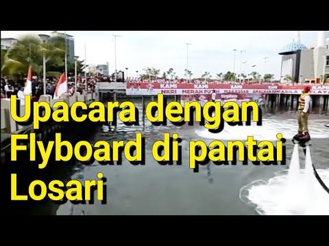 Pengibaran Bendera Merah Putih Dengan Flyboard