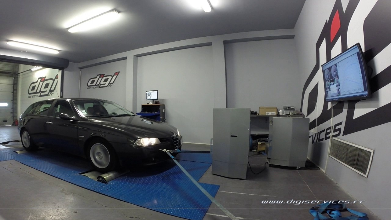 alfa 156 1 9 jtd 140cv reprogrammation moteur 165cv digiservices paris 77 dyno youtube. Black Bedroom Furniture Sets. Home Design Ideas