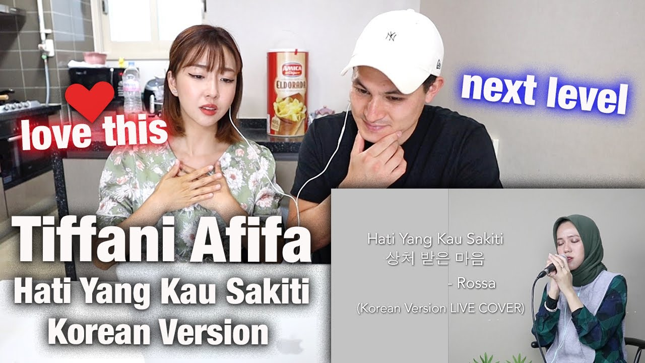 KOREAN GIRL REACTS Tiffani Afifa Cover of Rossa - Hati Yang Kau Sakiti (Korean Version)
