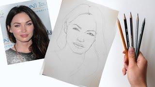 Как нарисовать портрет по фотографии! Часть первая Построение Пропорции лица! #Dari_Art