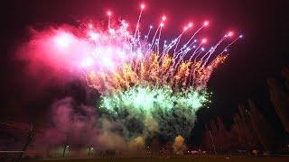 Gemeinschafts- Silvesterfeuerwerk Krempe 2018 【4K】Feuerwerk Zeitstempel