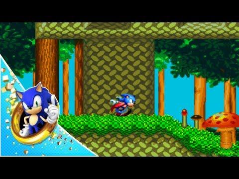 Sonic Mania - Mushroom Hill Zone Act 1 Gameplay