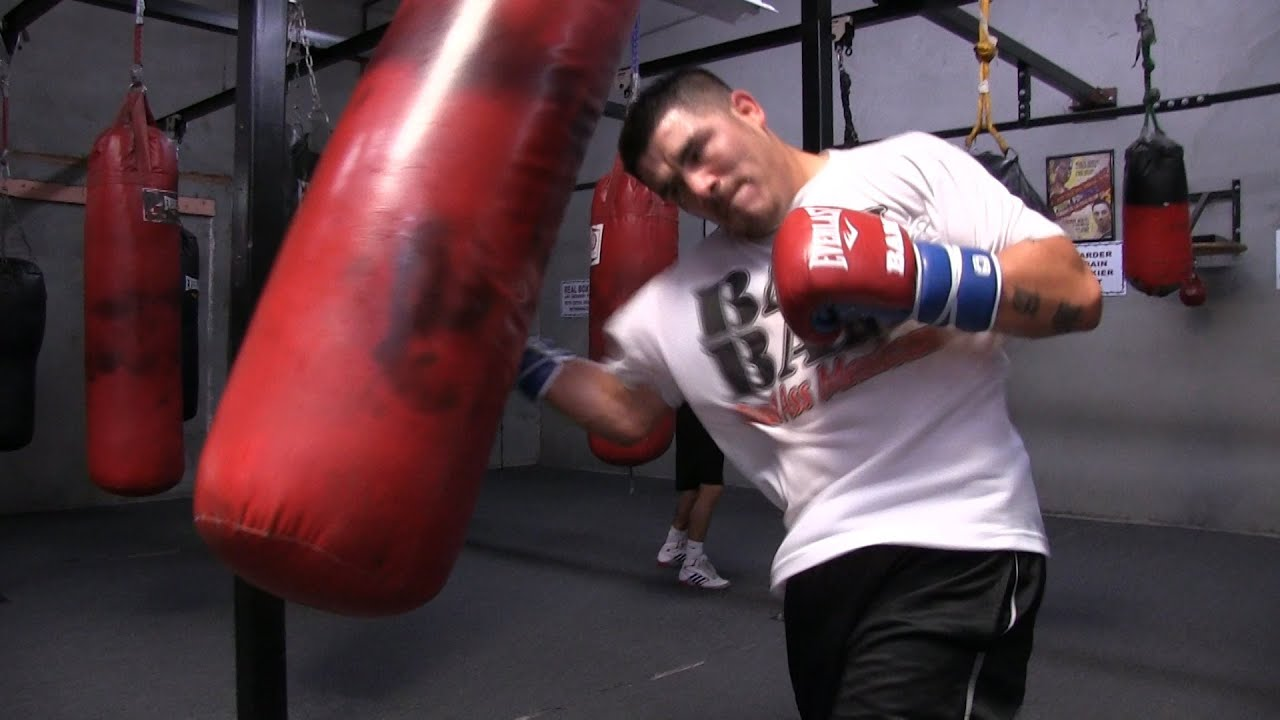 Manny Pacquiao Vs Brandon Rios Rios Heavy Bag Workout And