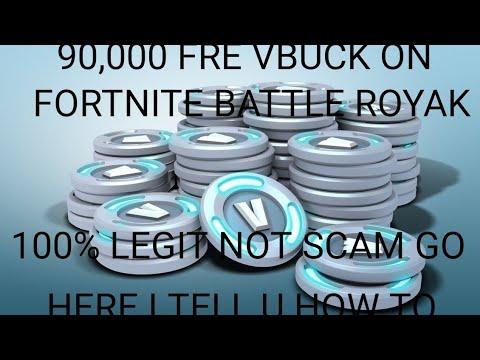 free vbuks fortnite 100% legit not scame battle royale 90,000 vbucks how to get