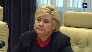 الرزاز يبحث مع رئيسة وزراء النرويج سبل تعزيز العلاقات  الثنائية  - (20-10-2019)