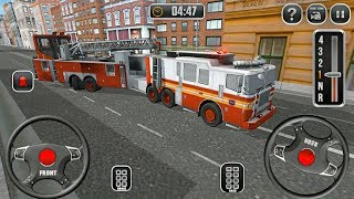 Fire Truck Driving School 911 Emergency Response - Strange Firefighter Truck - Android Gameplay