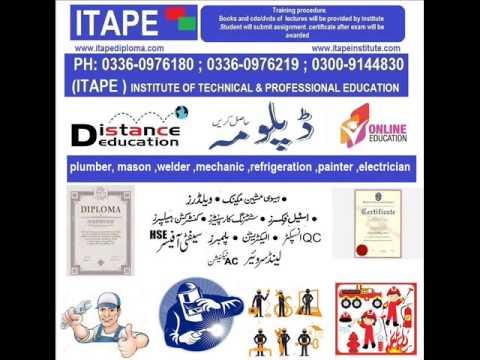 DIPLOMA CERTIFICATE plumber, mason ,welder ,mechanic ,refrigerat