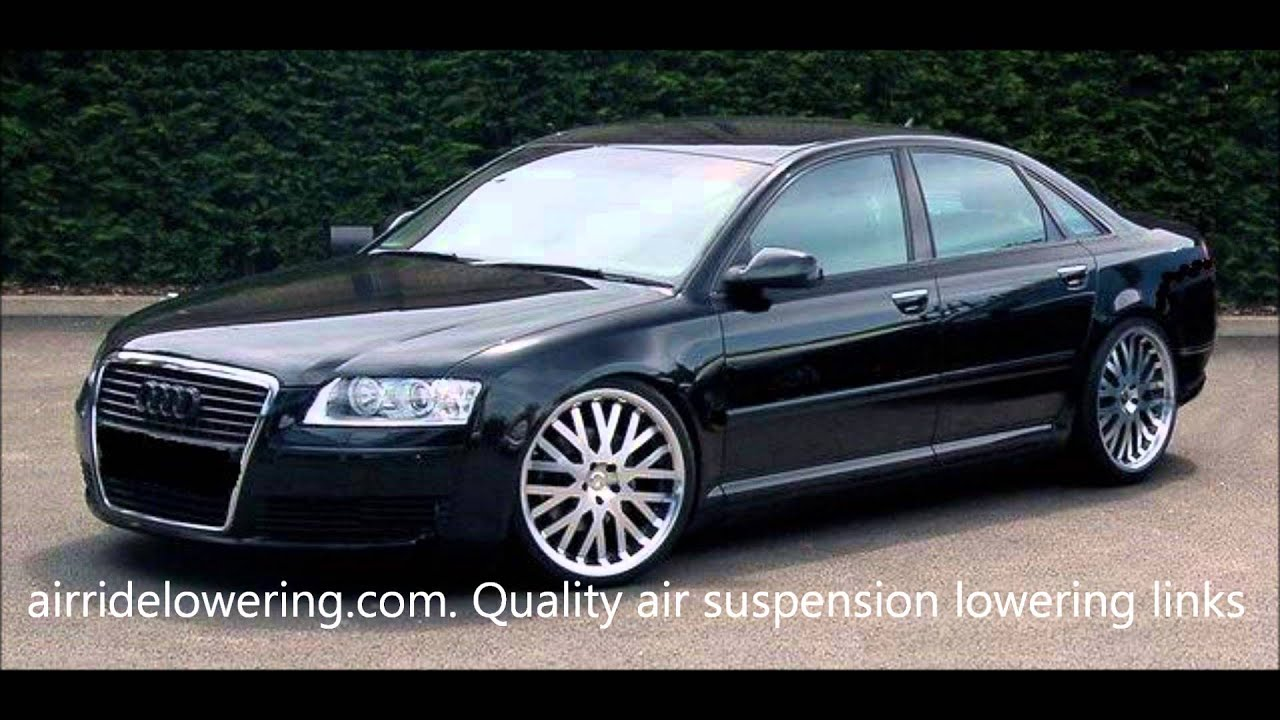 Audi A8 Lowered Using Quality Air Suspension Lowering