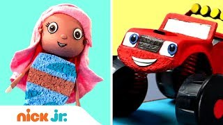 Make Your Own Nick Jr. Surprise Toys w/ Bubble Guppies & Blaze | Stay Home #WithMe | Nick Jr.