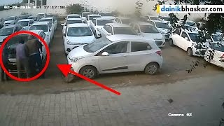 Man Destroying Cars In Show Room During Jaat Agitation