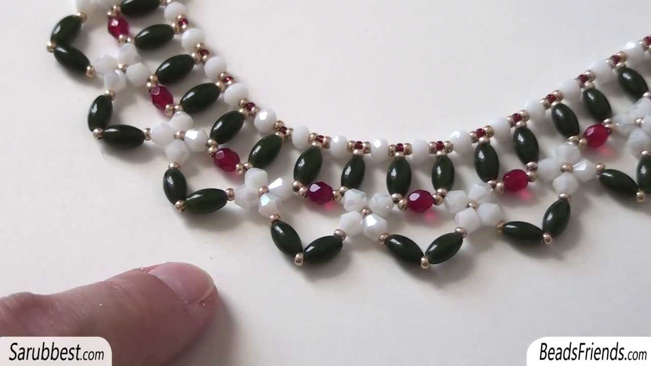 Favoloso Sarubbest: Collana con perline: collare realizzato con perline e  JQ81