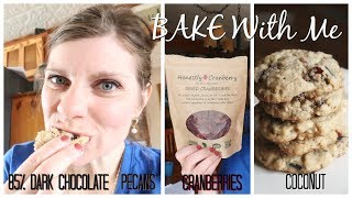 HONESTLY CRANBERRY | Bake With Me | Cranberry Dark Chocolate Coconut Pecan Cookies