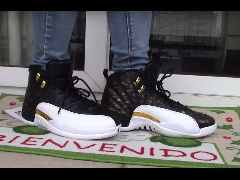 fa6aba7be779 Jordan 12 wings on FOOT - YouTube