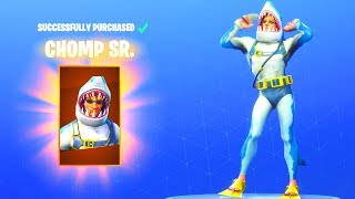 *NEW* CHOMP SR. (Shark) SKIN! Fortnite Battle Royale