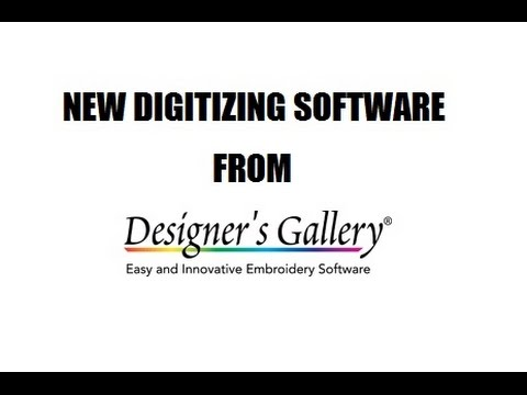Digitizing With Brad New Digitizing Software From Designer S Gallery Youtube