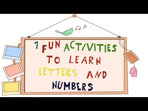 7 fun Activities to Learn Numbers and Letters - STEM activity for Kids