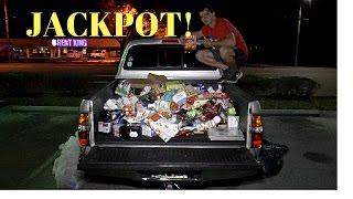 HUGE Dumpster Diving Haul Jackpot Fills My Truck Tons of Foo...