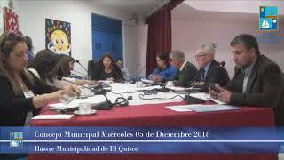 Concejo Municipal Miércoles 05 Diciembre 2018 - El Quisco