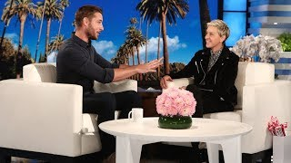 vuclip Ellen Recruits tWitch as Justin Hartley's Wedding Choreographer