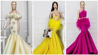 Barbie dikişsiz elbise yapımı | DIY | kumaştan kendin yap ~ 5 dakikada hallet / Barbie kıyafetleri