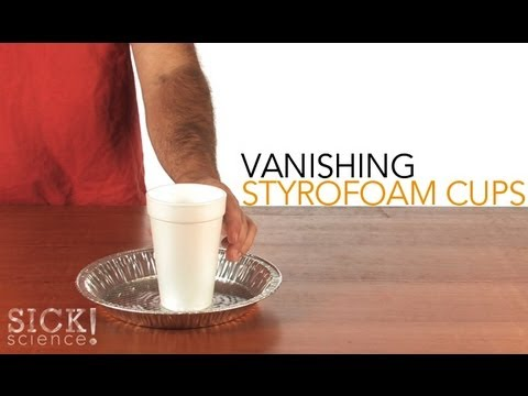 vanishing styrofoam cups sick science 101 youtube