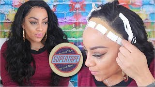 {START TO FINISH} DETAILED SECURING YOUR LACE WIG W/ TAPE ONLY METHOD feat Eullair Hair