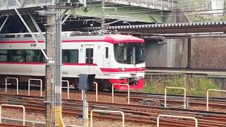 名鉄1700系1701F一部特別車特急豊橋行金山4番線到着
