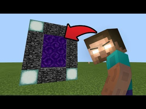 How To Make A Portal To The Herobrine DIMENSION In Minecraft Pocket Edition