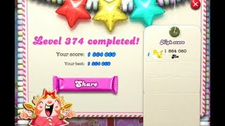 Candy Crush Saga Level 374  - NO BOOSTER