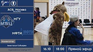Баскетбол. МССИ XXXII. АСБ МОСКВА. МГУ - МФТИ